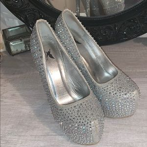 Rhinestone high heels
